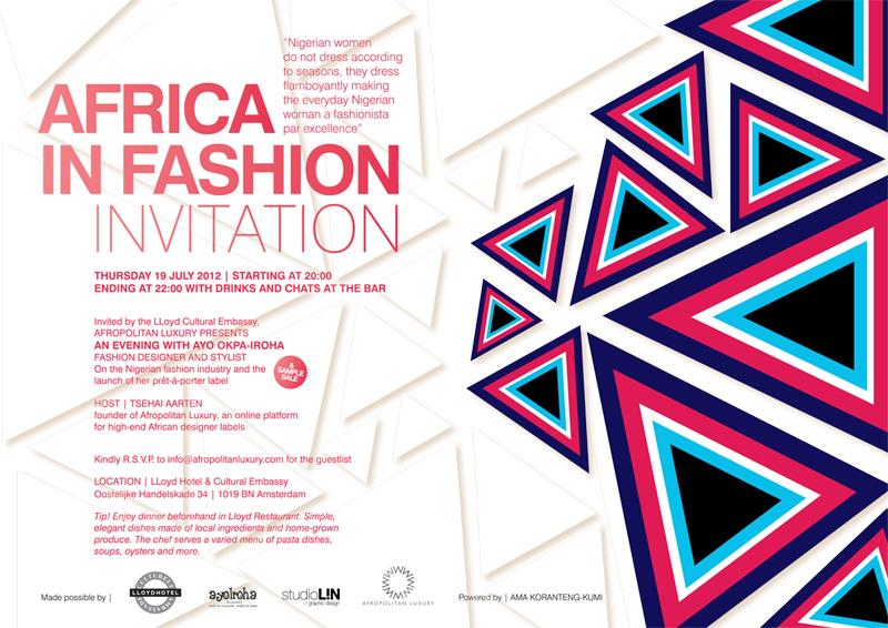 Africa in fashion studiolin graphic design for Design hotel iroha